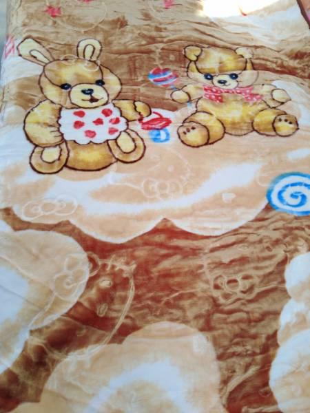 پتوی کودک دو رو برجسته  خرس قهوه ای